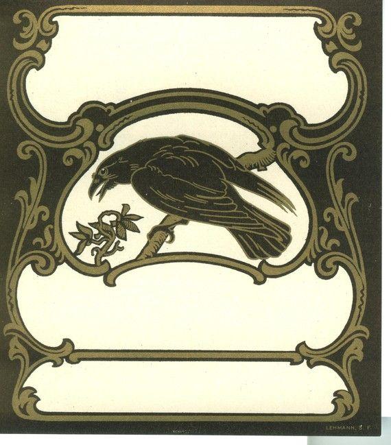 Drawn raven art nouveau Vintage best 426 images Art