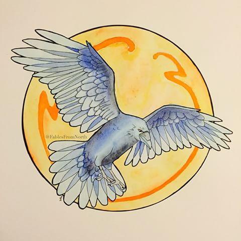 Drawn raven art nouveau Finished #blyant #pencil #draw art