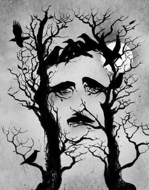 Drawn raven artistic Poe's the
