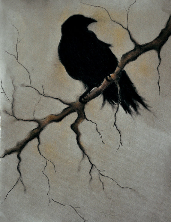 Drawn raven artistic A Halloween Art Bird 5