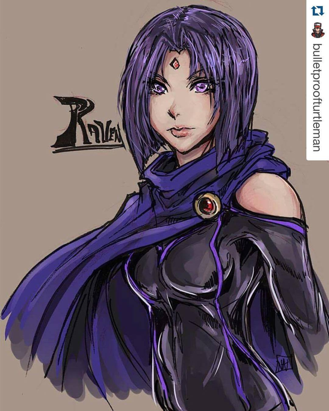 Drawn raven badass #ICYMI: — INBEON #anime @bulletproofturtleman