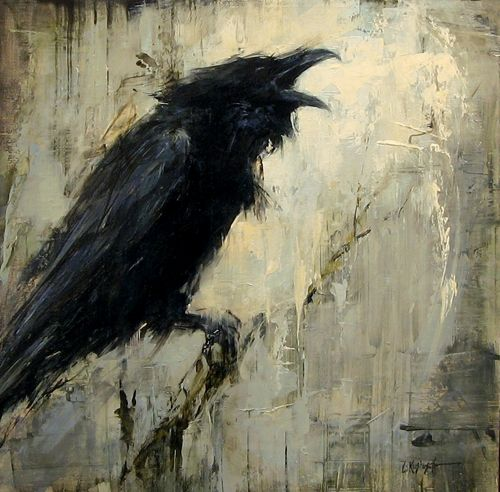 Drawn raven badass Art goth darkness raven