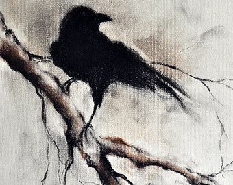 Drawn raven branch Drawing Crow best about 30
