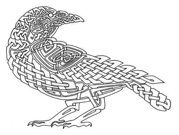 Drawn raven celtic Indigo a Best ideas will