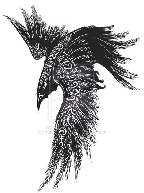 Drawn raven celtic  Concept Tattoos Raven Tattoo