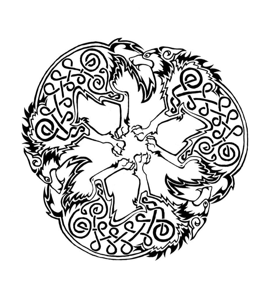 Drawn raven celtic Pinterest More Celtic Celtic and