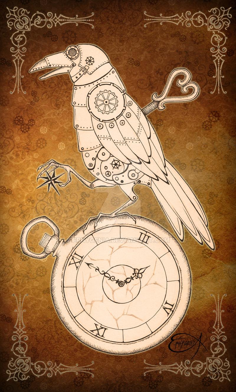 Drawn raven clockwork Clockwork by EpHyGeNiA Raven Clockwork