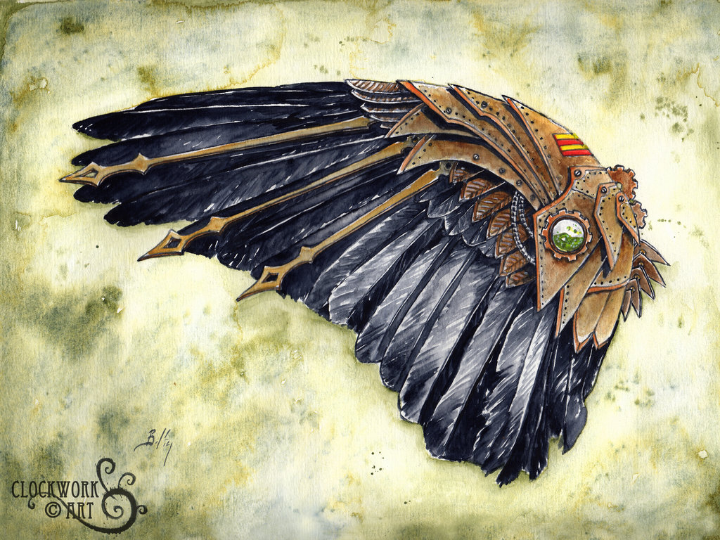 Drawn raven clockwork By Corvid by in Study