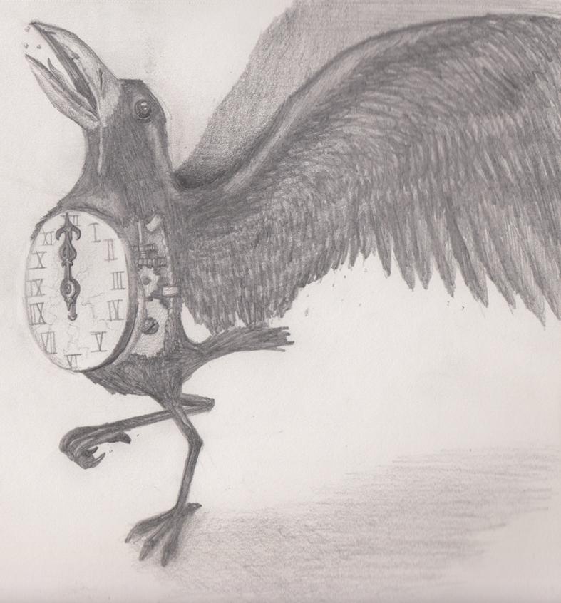 Drawn raven clockwork By on Clockwork by DeviantArt