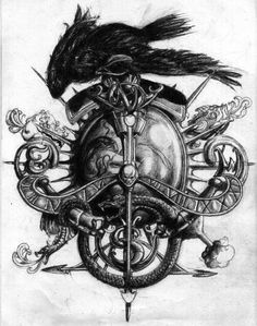 Drawn raven coat arms And zoeken Arms ravens Jose