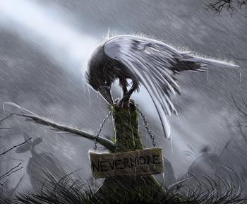 Drawn raven creepy Creepy Tropes TV Crows Creepy