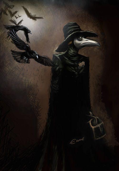 Drawn raven creepy Plague Doctor Plague images best