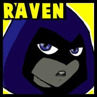 Drawn raven cute To Titans Teen Drawing with