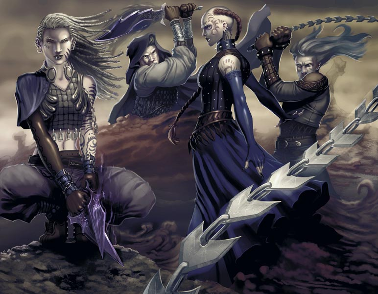 Drawn raven d&d D&D Shadowfell Tribality the kai