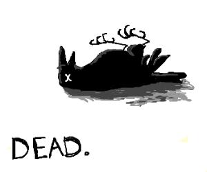 Drawn raven dead Natural) dead raven (drawing raven