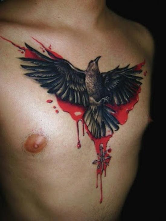 Drawn raven dead Tattoo raven tattoo Designs Artistic