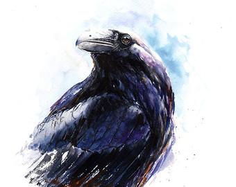 Drawn raven face Raven raven Raven raven gift