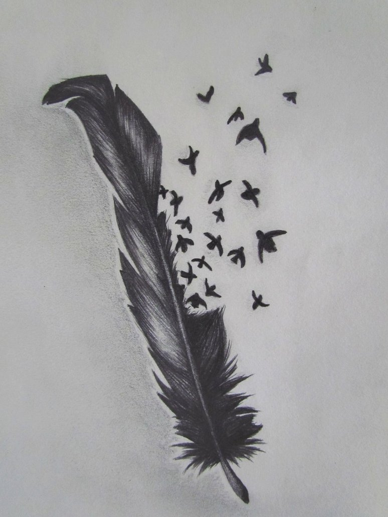 Drawn raven feathered Feather Bird 1 inspiration Crow