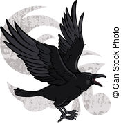 Drawn raven flight drawing Clip of flying illustration and