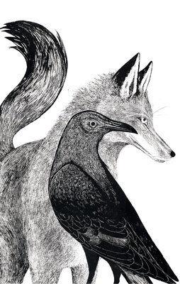 Drawn raven fox Tattoo best images Fox on