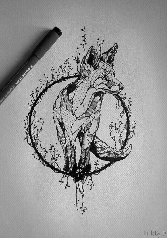 Drawn raven fox Pinterest best tattoo Ink fox