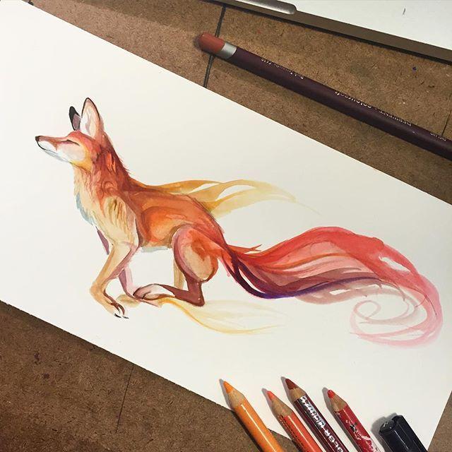 Drawn raven fox #art Fox fun best Simple