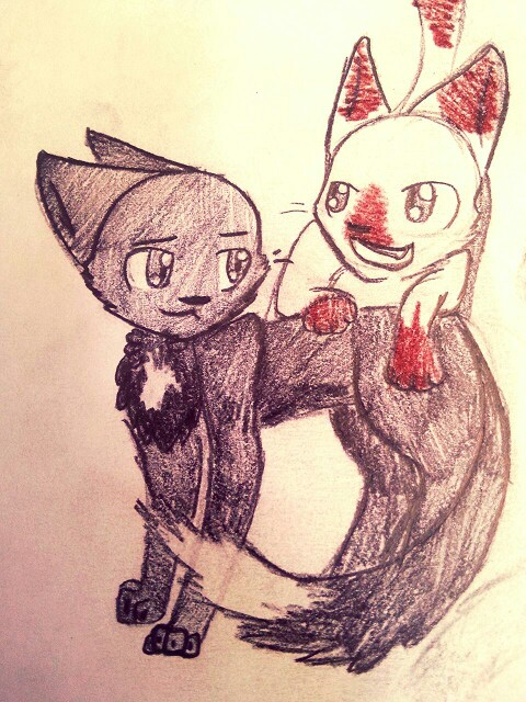 Drawn raven fox Stuffz and kit Raven and