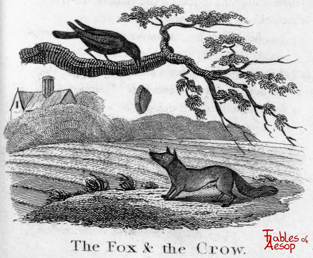 Drawn raven fox The 0153 Aesop and of