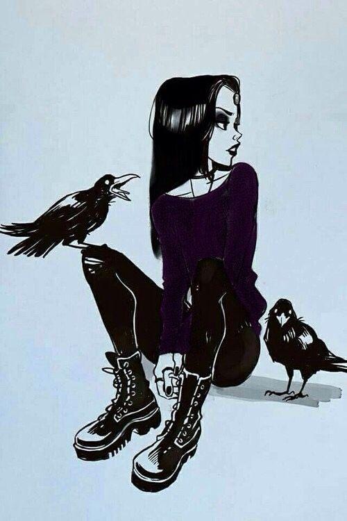 Drawn raven gothic #Raven ideas #darkart Instagram art