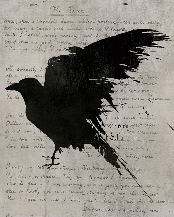 Drawn raven gothic Edgar Gothic raven The Nevermore