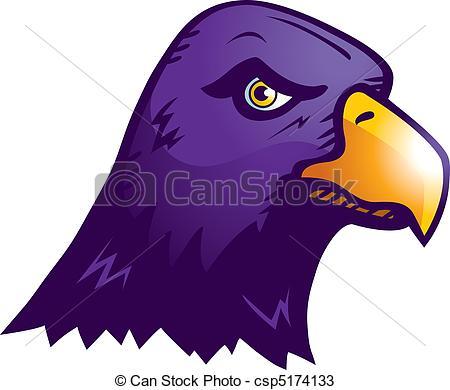 Drawn raven head  purple Raven Raven Raven