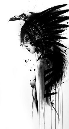 Drawn raven hippie chick Tattoo Tattoo Awesome Raven Hot