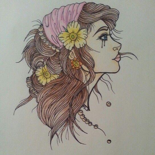 Drawn raven hippie chick Hippie 58 Hipster Jay girl