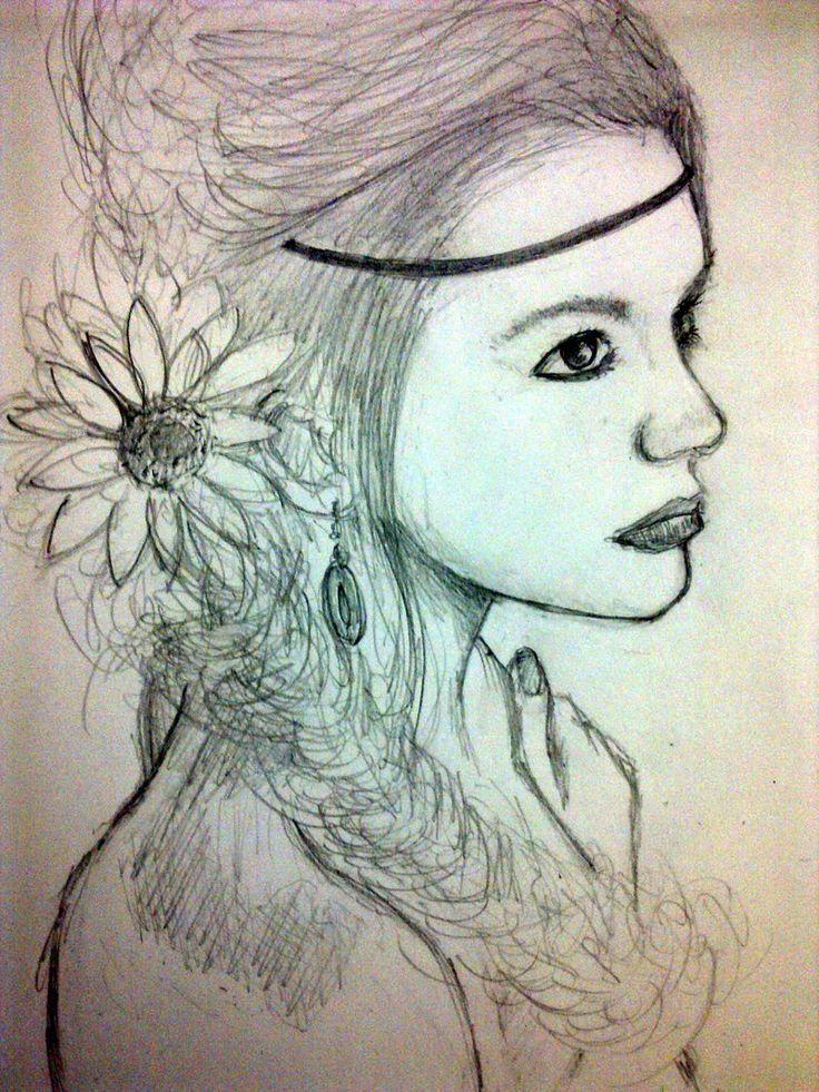 Drawn raven hippie chick Hippie kheng hippie people fanart