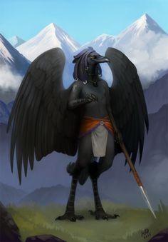 Drawn raven humanoid  grim 4 reaper DemonLife