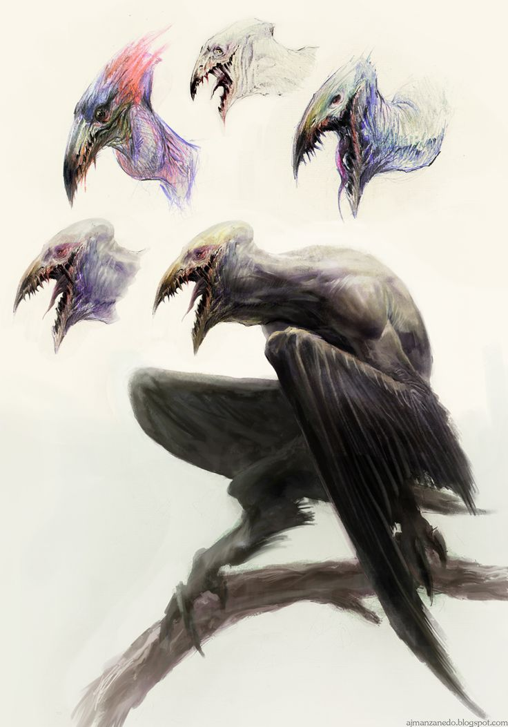 Drawn raven humanoid Result humanoid for for vulture