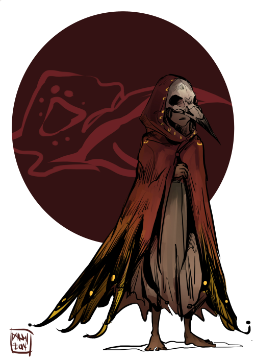 Drawn raven humanoid Tumblr bird humanoid
