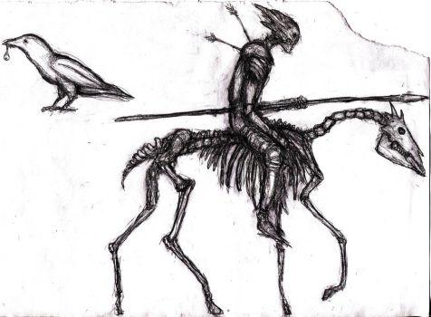 Drawn raven humanoid Raven KingOvRats by 12 Knight