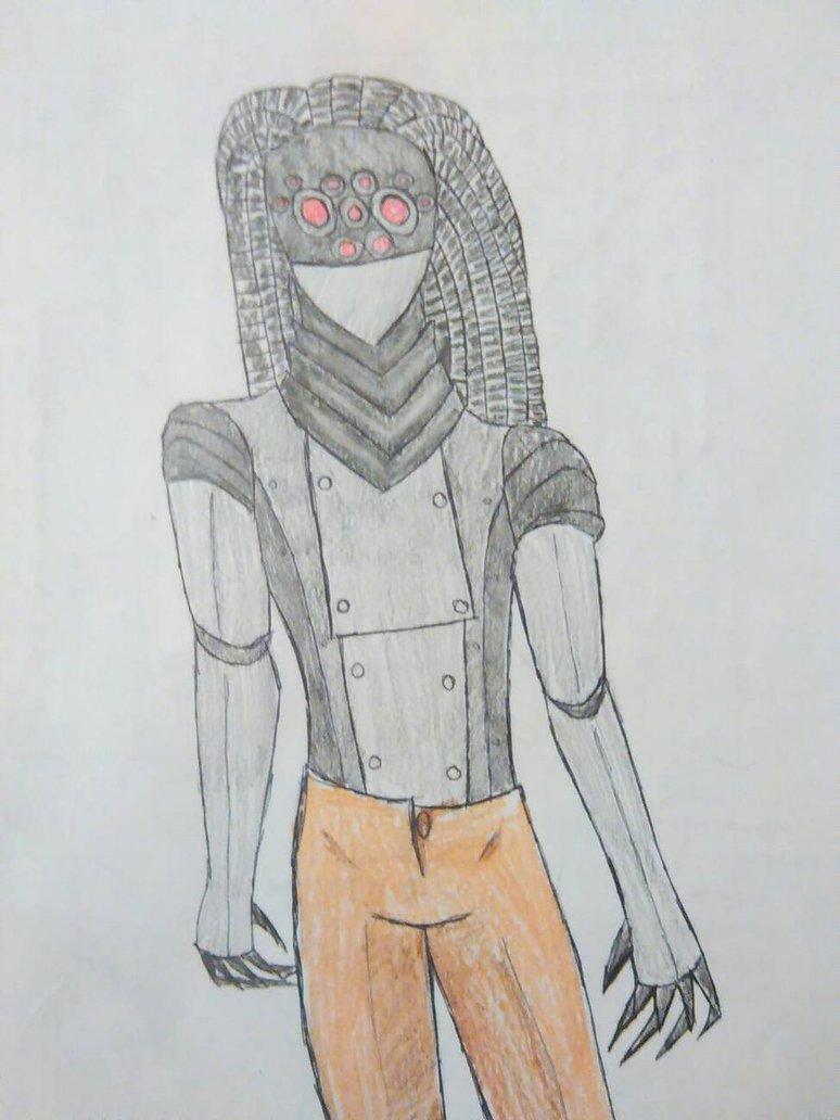 Drawn raven humanoid Sentinel Raven by by lullabye