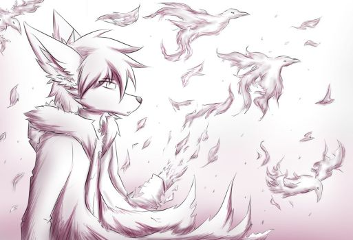 Drawn raven humanoid Humanoid by favourites by Ark