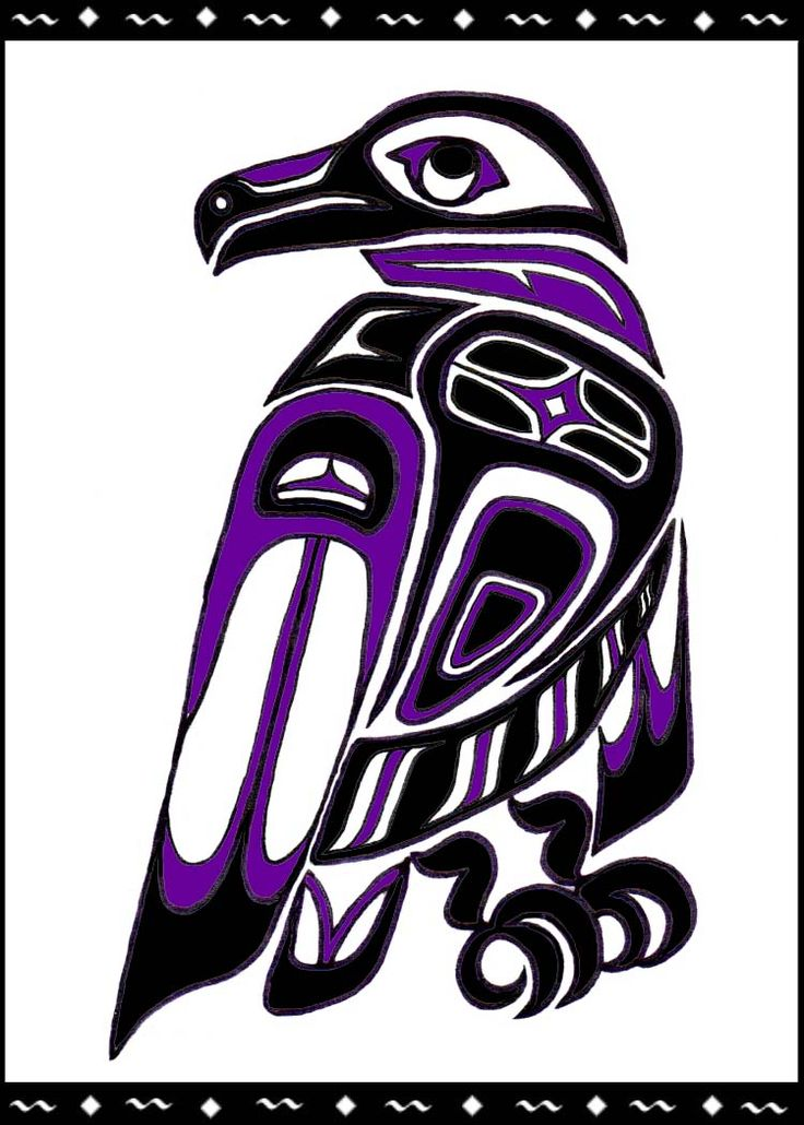 Drawn raven indian 11 horses Designs Tlingit Pinterest