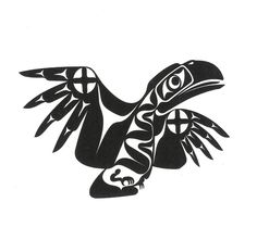 Drawn raven indian Bird crow Pin a is