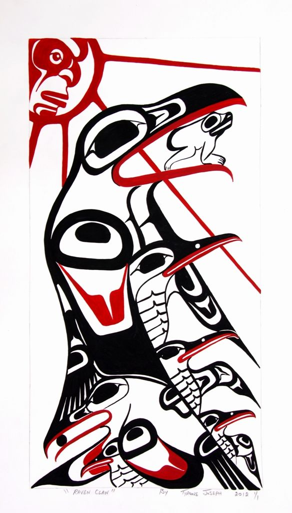 Drawn raven indian Tsimshian Canadian Art Eyak best