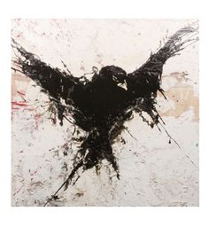 Drawn raven ink splatter Search Inspiration/Ideas crow  crow