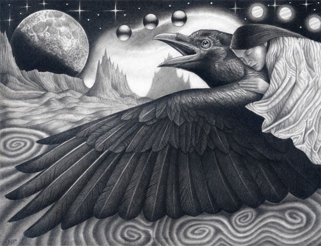 Drawn raven inuit The for The totem on