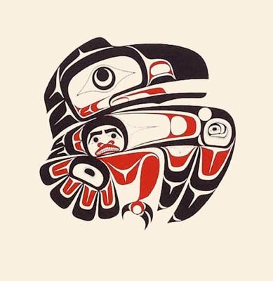 Drawn raven inuit Esquimales) (los Inuit  Inuit