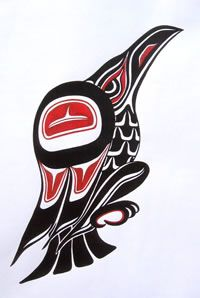 Drawn raven inuit Best 635 Native on Quilt