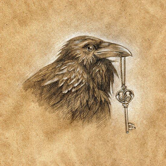Drawn raven key Flower Best Mind (Kate katepru