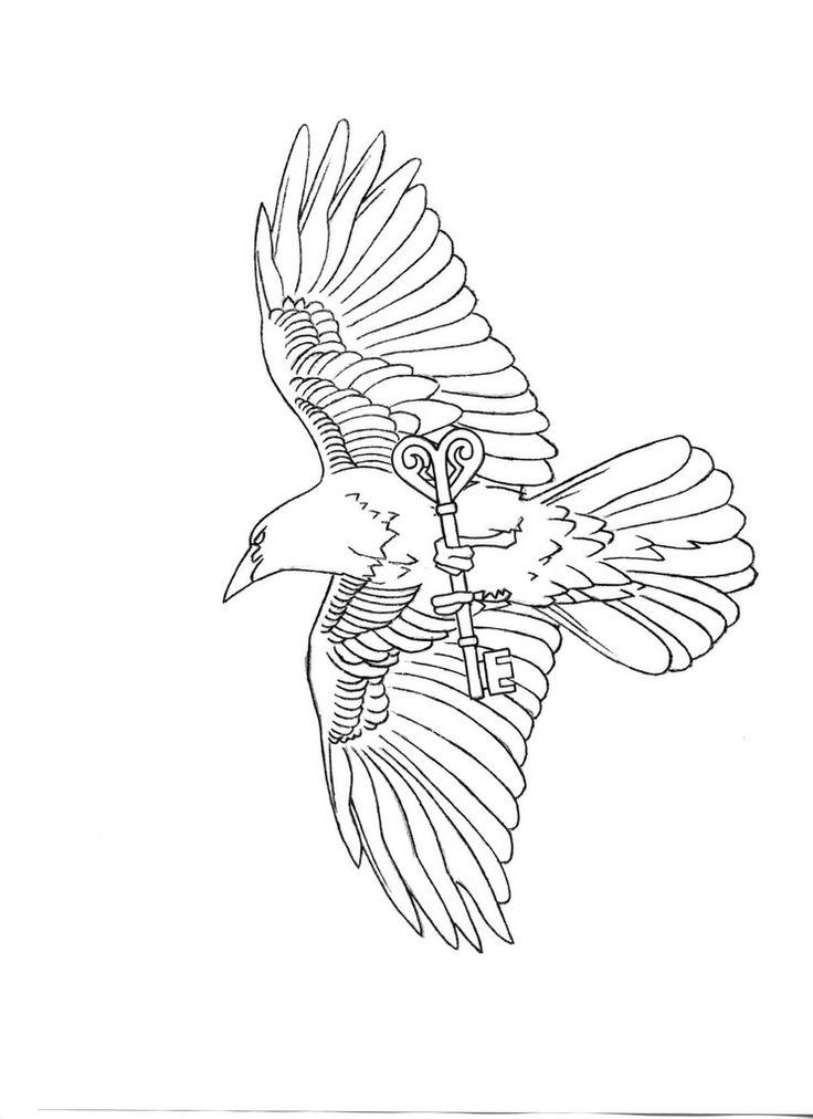 Drawn raven key Crows Ravens & best Pinterest