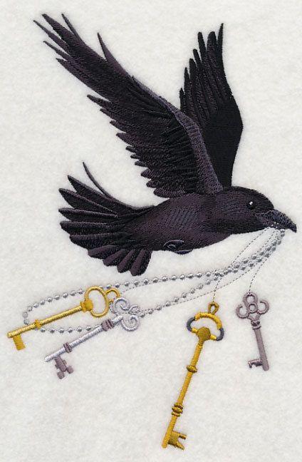 Drawn raven key 99 ideas EmbroideryEverywhere bird Keys
